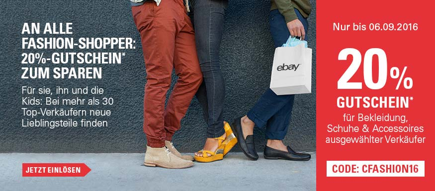 eBay Top-Fashion Gutschein