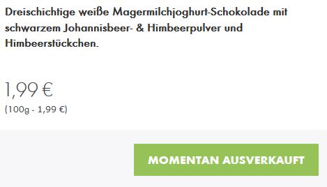 Ritter Sport Einhorn Schokolade ausverkauft
