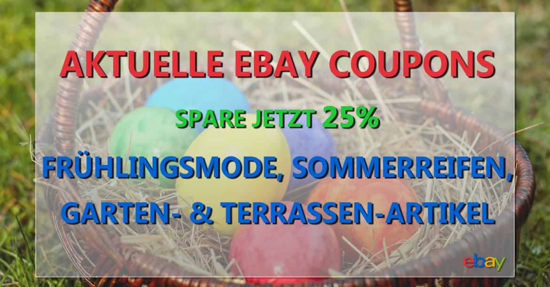 eBay Coupons Frühlingsmode Sommerreifen Garten Terrasse